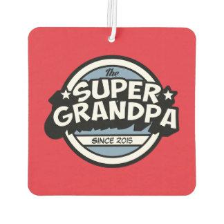 Bright red Super Grandpa Air Freshener