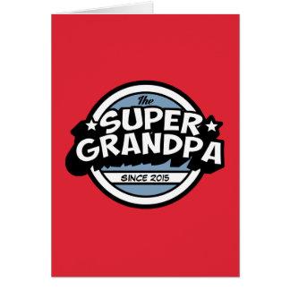 Bright Red Super Grandpa Card
