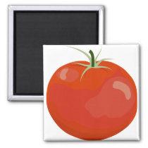 Bright Red Tomato Magnet