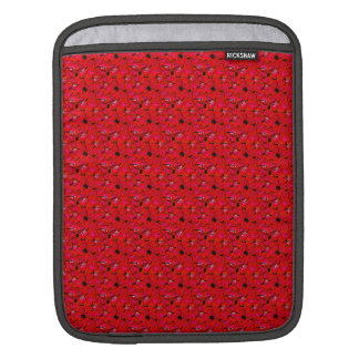 Bright Red Trendy Hibiscus Flowers Sleeves For iPads