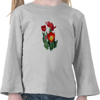 Bright Red Tulips T-shirt
