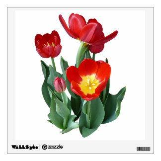 Bright Red Tulips Room Stickers