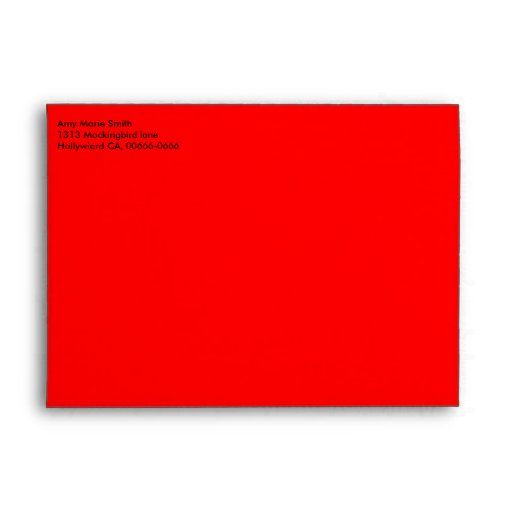 Bright Red Valentine's Day Envelope
