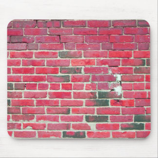 Bright Red Vintage Brick Wall Texture Mousepads