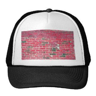 Bright Red Vintage Brick Wall Texture Trucker Hat