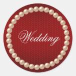 Bright Red Wedding Sticker