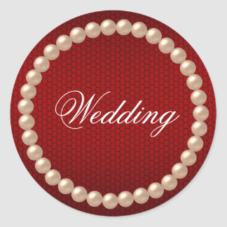 Bright Red Wedding Sticker