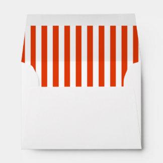 Bright red white stripes Hot air balloon birthday Envelope