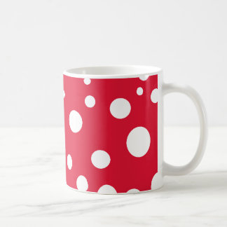 Bright Red with White Polka Dots Coffee Mug