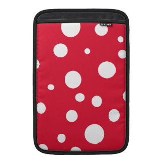 Bright Red with White Polka Dots MacBook Sleeves