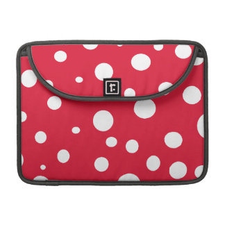 Bright Red with White Polka Dots Sleeves For MacBooks