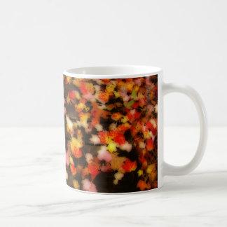 Bright Red Yellow Autumn Maple Leaves Coffee Mug