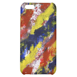 Bright Red Yellow Blue Painted Blob Stripes iPhone 5C Covers