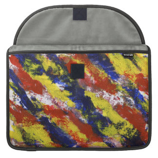 Bright Red Yellow Blue Painted Blob Stripes MacBook Pro Sleeve