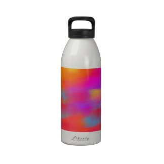 Bright Reflections Abstract Drinking Bottle