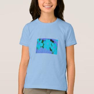 Bright Retro Floral Girls Ringer T-Shirt