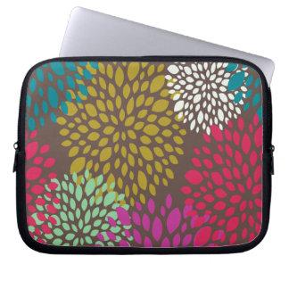 Bright Retro Floral Laptop Sleeve