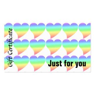 Bright Retro Heart Pastel Rainbow Love Business Card Template