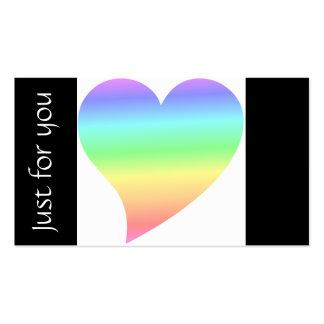 Bright Retro Heart Pastel Rainbow Love Business Card