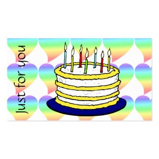 Bright Retro Heart Pastel Rainbow Love Business Card Templates