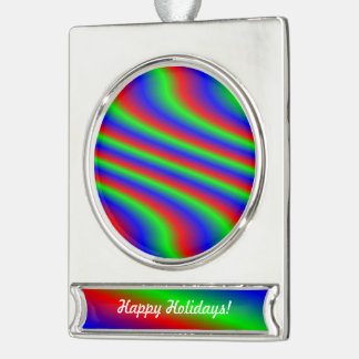 Bright RGB Silver Plated Banner Ornament