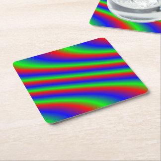 Bright RGB Square Paper Coaster