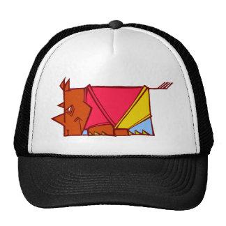 bright rhino trucker hat