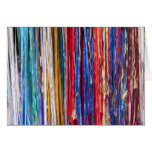 Bright ribbons, colorful stripes greeting cards