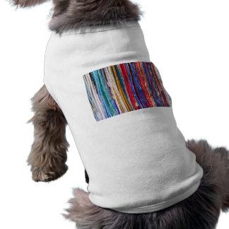 Bright ribbons, colorful stripes shirt