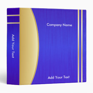 Bright Rich Blue and Gold Company Design Binder