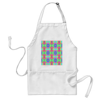Bright Rich Pastel Tribal Pattern Adult Apron