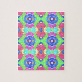 Bright Rich Pastel Tribal Pattern Jigsaw Puzzle
