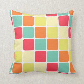 Bright Rounded Squares Pattern Pillow