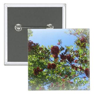 Bright Rowan Sky Pinback Button