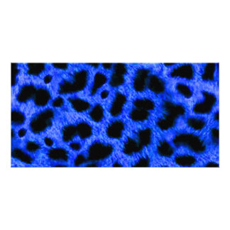 BRIGHT ROYAL BLUE ANIMAL PRINT PATTERN TEXTURES WA CARD