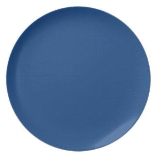 bright royal blue dinner plate