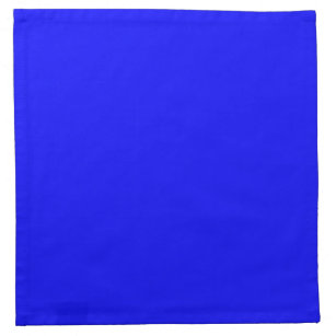 Bright Royal Blue Solid Trend Color Background Napkin