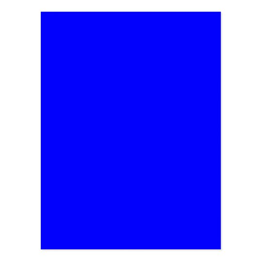 Bright Royal Blue Solid Trend Color Background Postcard ...