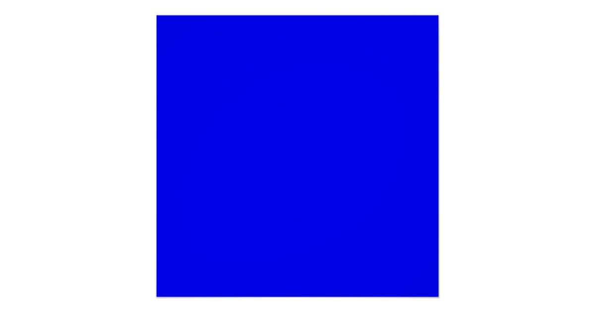 Bright Royal Blue Solid Trend Color Background Poster ...
