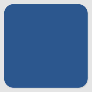 bright royal blue square sticker