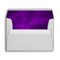 Bright Royal Purple Wedding Envelope