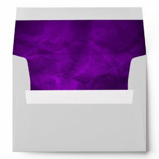 Bright Royal Purple Wedding Envelope