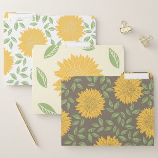 Bright Rustic Country Sunflower Pattern File Folder