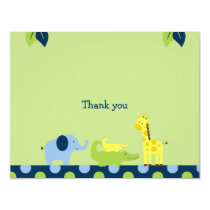 Bright Safari Jungle Animal Thank You Note Cards
