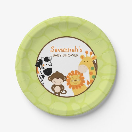 Bright Safari Paper Plate