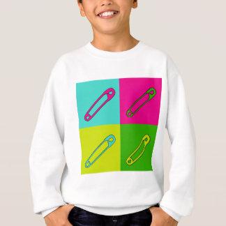 Bright safety pins modern art sweatshirt