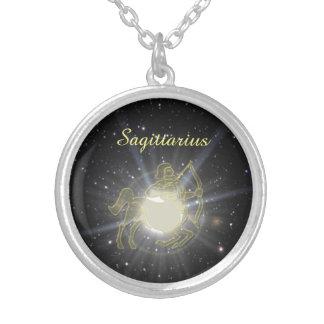 Bright Sagittarius Silver Plated Necklace