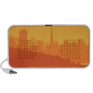 Bright San Francisco sunset. Laptop Speaker