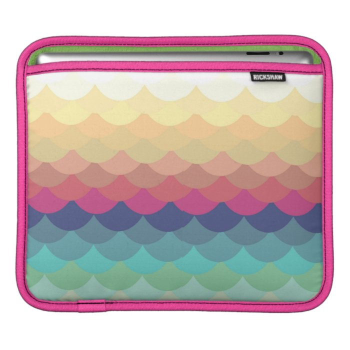 Bright Scallop Summer Pattern iPad Case iPad Sleeve