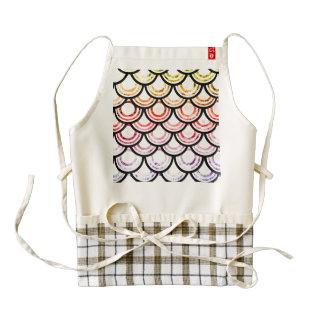 Bright Scallops Art Design Zazzle HEART Apron